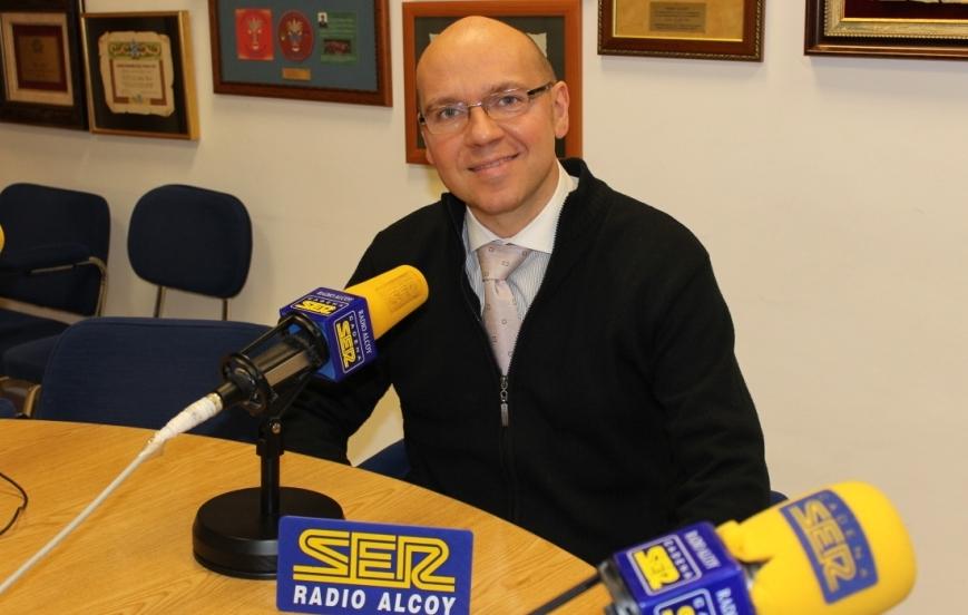Vicente Ribes en Radio Alcoy